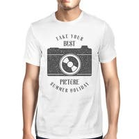 Best Summer Picture Mens White Funny Graphic Cool Summer Tshirt