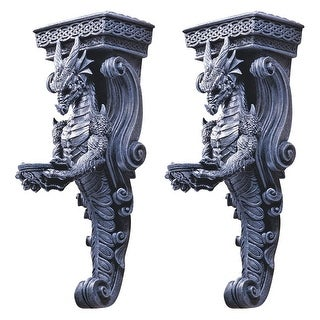 Design Toscano Dragons of Darkmoor Castle Wall Caryatids: Set of Two