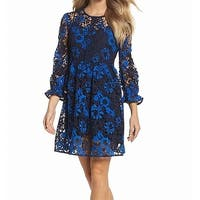 FRENCH CONNECTION Women's Floral Lace A-Line Dress