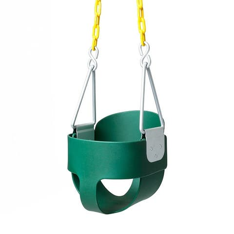 Outdoor Swing Set Stuff Highback Full Bucket Swing Green
