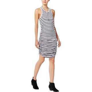 Chelsea Sky Womens Tank Dress Striped Ruched (More options available)