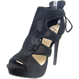 Qupid Avalon-66 Open Toe Leather Platform Sandal