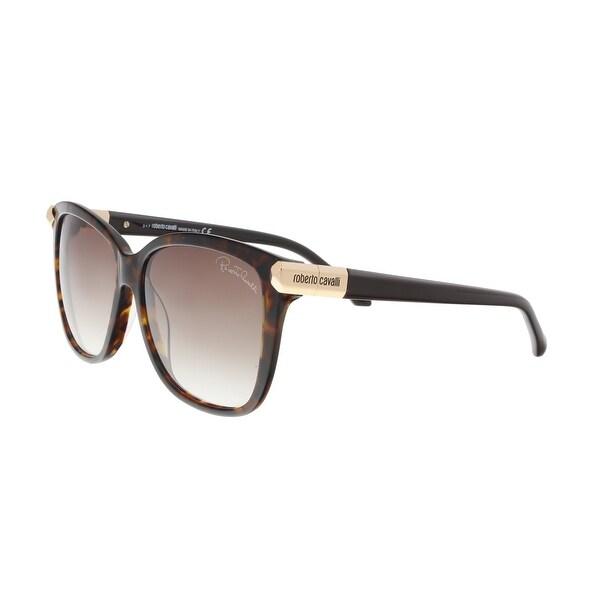 Roberto Cavalli RC902S 52F MENKENT Dark Havana Square Sunglasses - 57-14-135