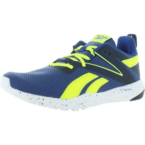 Reebok Mens Mega Flexagon Running Shoes Fitness Gym - Navy/Yellow