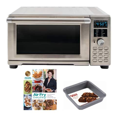 NuWave Bravo XL Air Fryer Toaster Oven with Cookbook and Square Pan