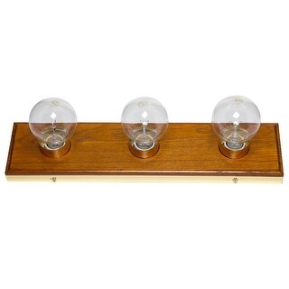 Boston Harbor V1PG033L Vanity Bathroom Light Fixtures, Solid Oak