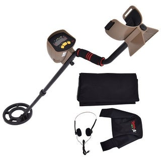 Costway Professional Metal Detector Underground Search Gold Digger Hunter 8.3'' MD-6200