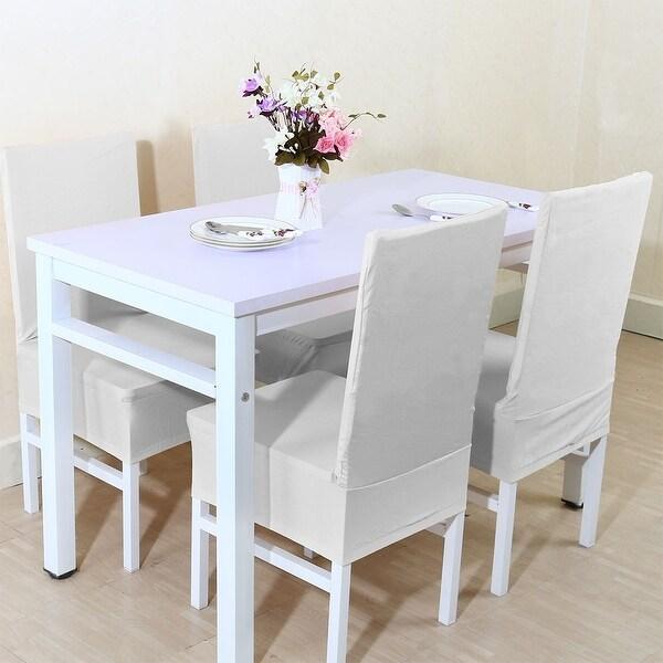 Shop Unique Bargains White Spandex Stretch Washable Dining Chair