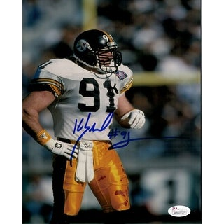 Kevin Greene Autographed Pittsburgh Steelers 8x10 Photo SOLO JSA
