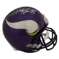 Adrian Peterson Autographed Minnesota Vikings Replica Helmet JSA