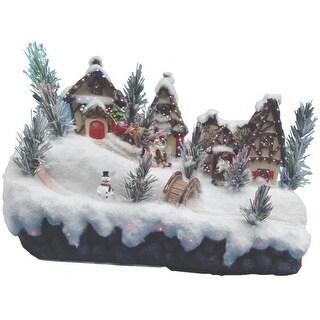 "Holiday Basix FBS13SB003AA-A Battery-Operated LED Church Village Figurine, 13"""