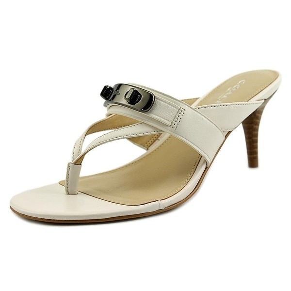 Coach Womens Olina Semi Matte Calf Leather Split Toe Casual T-Strap Sandals