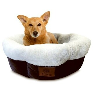 """American Kennel Club AKC3806 High Wall Tufted Round Pet Bed, 31"""""""
