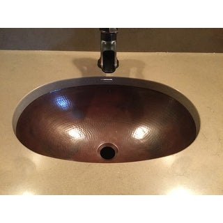 "Sinkology Wallace 19"" Dual Mount Handmade Copper Bathroom Sink"