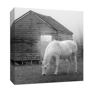 "PTM Images 9-147349  PTM Canvas Collection 12"" x 12"" - ""Misty Pasture"" Giclee Horses Art Print on Canvas"