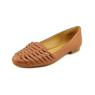 Nine West Liam Women Round Toe Leather Brown Flats