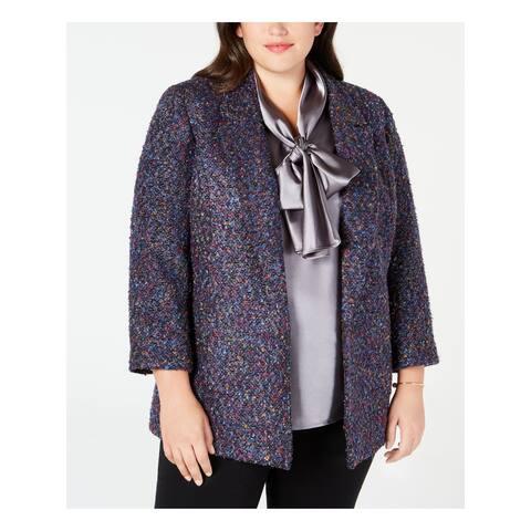 NINE WEST Purple Blazer Jacket Size 1X