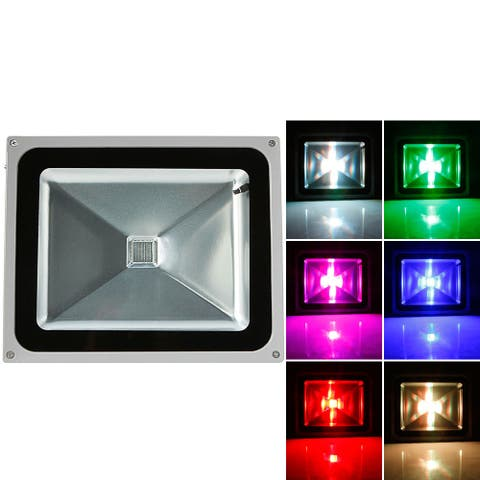 50W IP65 Waterproof RGB Aluminium Alloy LED Flood Light