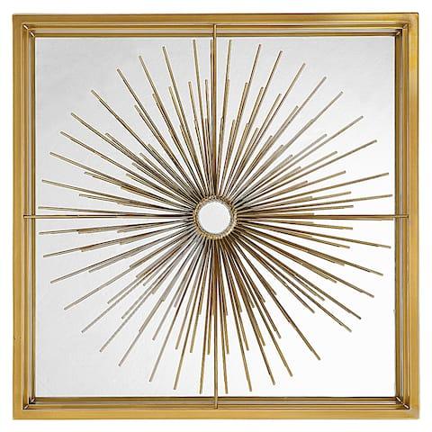 Uttermost Starlight Mirrored Brass Wall Decor - 19.75 x 19.75 x 3.38