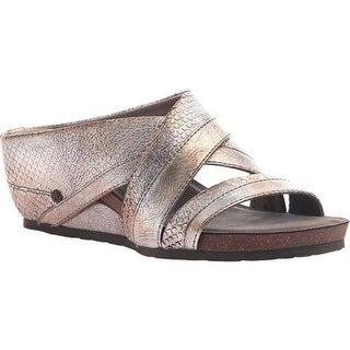 OTBT Women's Departure Strappy Slide Silver Leather
