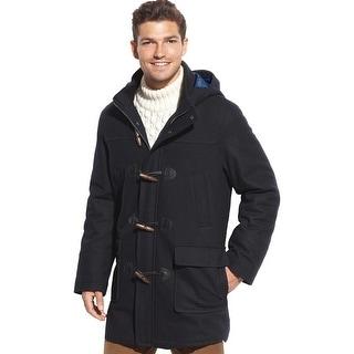 Tommy Hilfiger Barry Hooded Wool Blend Toggle Coat Navy Blue 42 Regular 42R