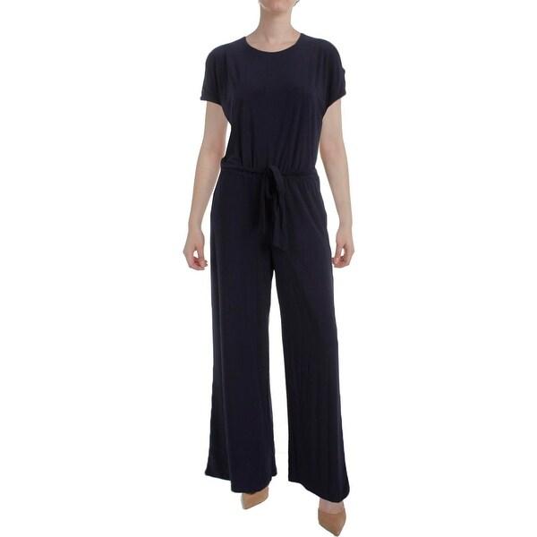 76aac36a0294 Shop Lauren Ralph Lauren Womens Sancia Jumpsuit Cold Shoulder Matte ...