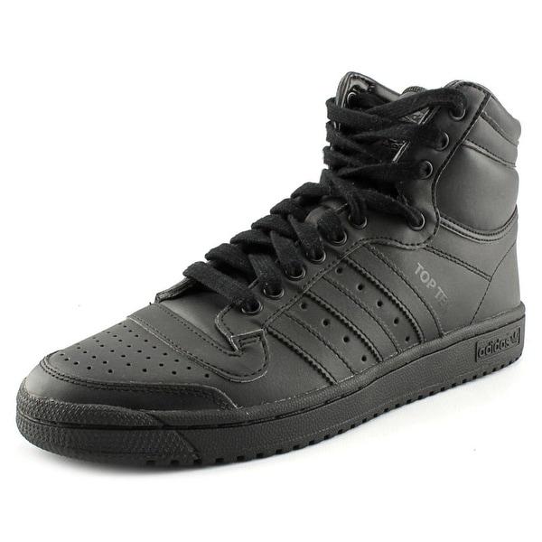 Adidas Top Ten Hi Men Round Toe Leather Black Sneakers