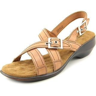 Walking Cradles Lythe Women Open-Toe Leather Slingback Sandal