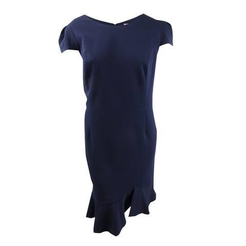 Betsey Johnson Women's Plus Size Ruffled-Hem Midi Dress (20W, Navy) - Navy - 20W