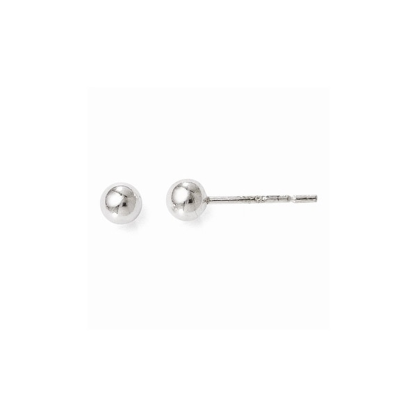 Sterling Silver Polished Ball Post Earrings