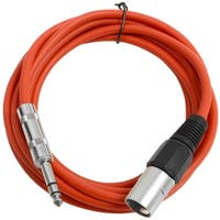 "SEISMIC AUDIO Red 1/4"" TRS to XLR Male 10' Patch Cable"