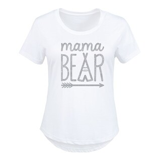 Mama Bear Charcoal - Ladies Plus Size Scoop Neck Tee