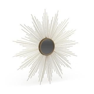 "Link to Safavieh Marinda Braided Gold Sunburst 41-inch Decorative Mirror - 41"" x 41"" x 0.8"" Similar Items in Mirrors"
