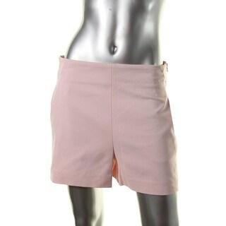 Zara Womens High Waist Slit Pockets Dress Shorts