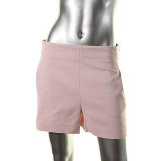Zara Womens Dress Shorts High Waist Slit Pockets