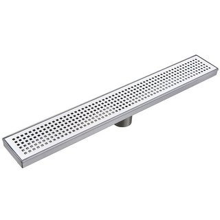 "Miseno MLND-60 60'' Pattern Grate Linear Shower Drain with 2"" Outlet"