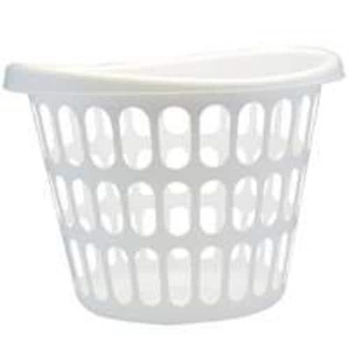 United Plastics LN0019 Laundry Basket, White