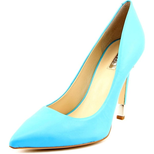 Guess Babbitta Women Pointed Toe Leather Blue Heels