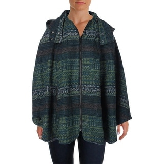 Wild Flower Womens Printed Hooded Poncho - o/s