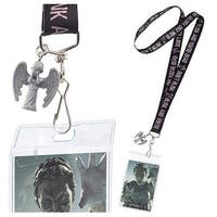 """Doctor Who Lanyard """"Don't Blink"""" with 3D Weeping Angel Charm - Multi"""