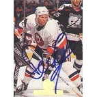 Derek King New York Islanders 1994 Leaf Autographed Card This item comes with a certificate of aut