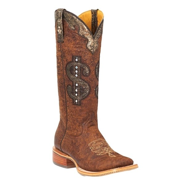 Tin Haul Western Boots Womens Stud Marbled Brown