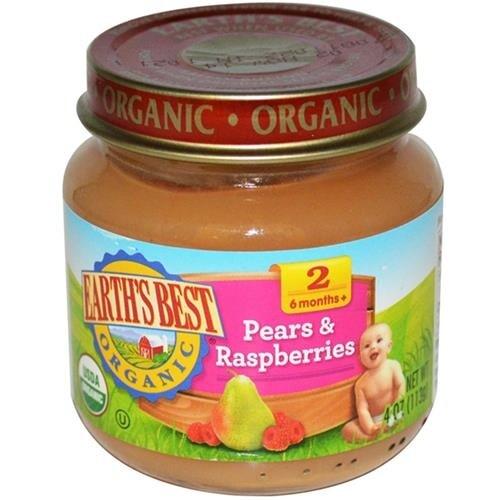 Earth's Best - Organic Pears & Raspberries Baby Food ( 12 - 4 OZ)