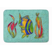 Tropical Fish on Teal Machine Washable Memory Foam