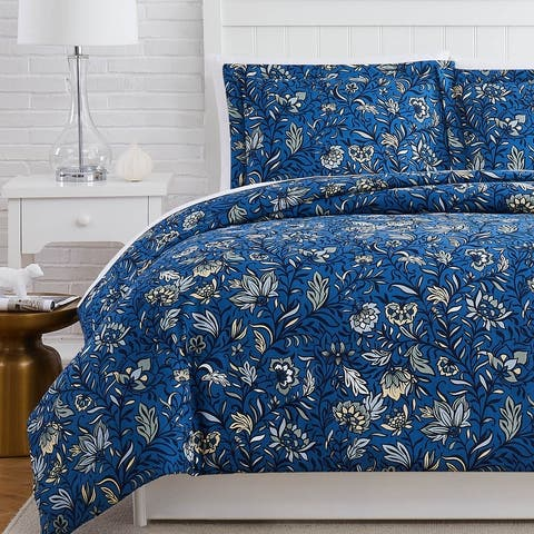 Extra Soft Blooming Blossoms 3-piece Duvet Cover and Sham Set