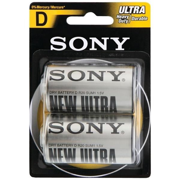 Sony S-Sum1Nub2A Heavy-Duty Carbon Zinc Batteries (D; 2 Pk)