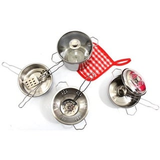 Kitchen Cookware Metal Pots & Pans Playset, 22 x 16 x 18 in.