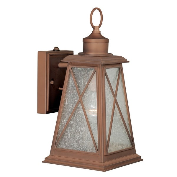 """Vaxcel Lighting T0063 Mackinac 1-Light Outdoor Wall Sconce - 7.25"""" Wide - Antique Red Copper - N/A"""