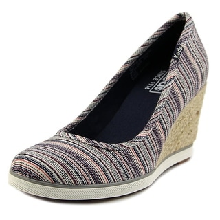 Keds Damsel Americana Open Toe Canvas Wedge Heel