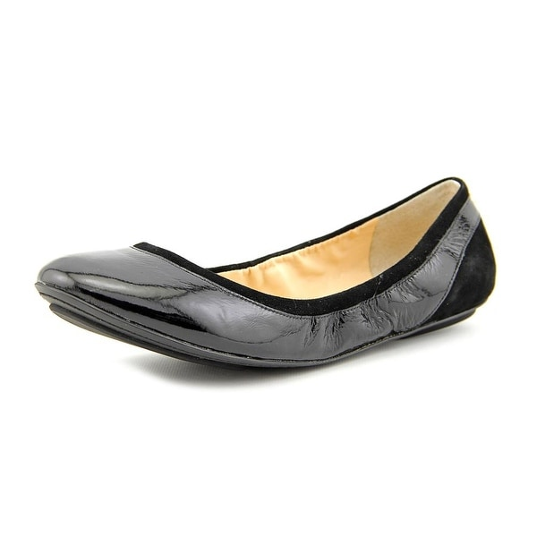 Cole Haan Avery Ballet Women C Round Toe Patent Leather Black Ballet Flats